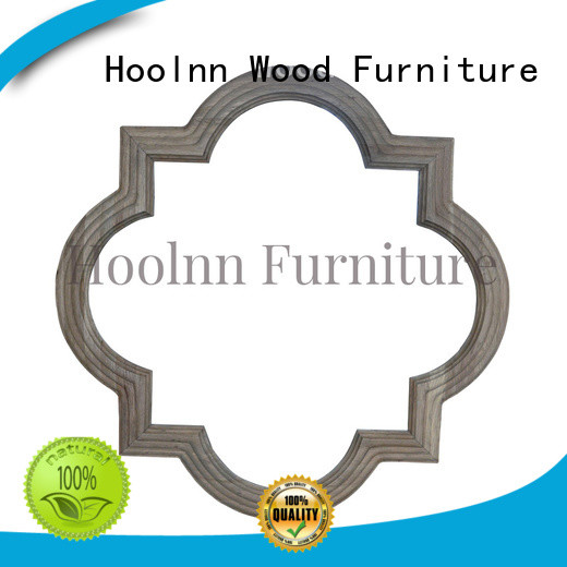 HOOLNN beautiful wood wall mirror with cheap price for wall hanging
