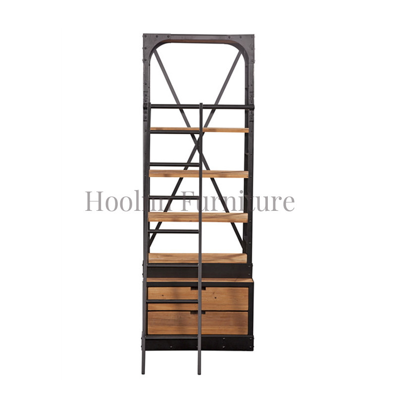 French country style industrial bookcase