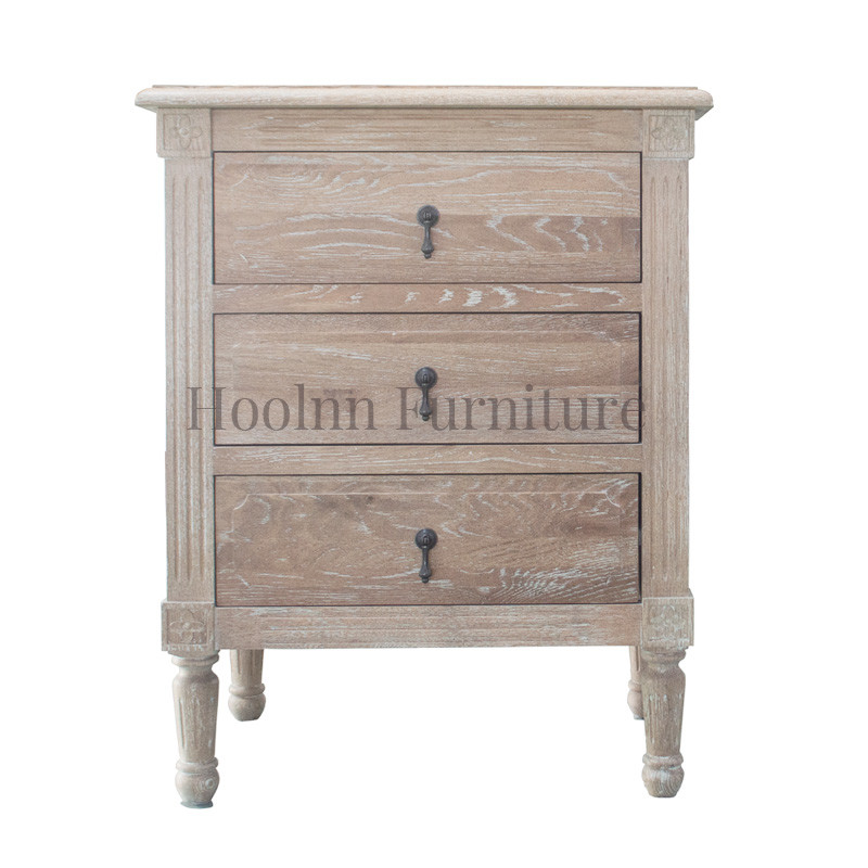 Antique French style Wooden Closed bedroom Bedside Table HL132