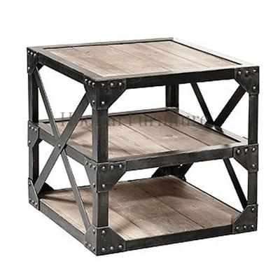 Living Room Side Table Retro French Industrial Furniture HL406