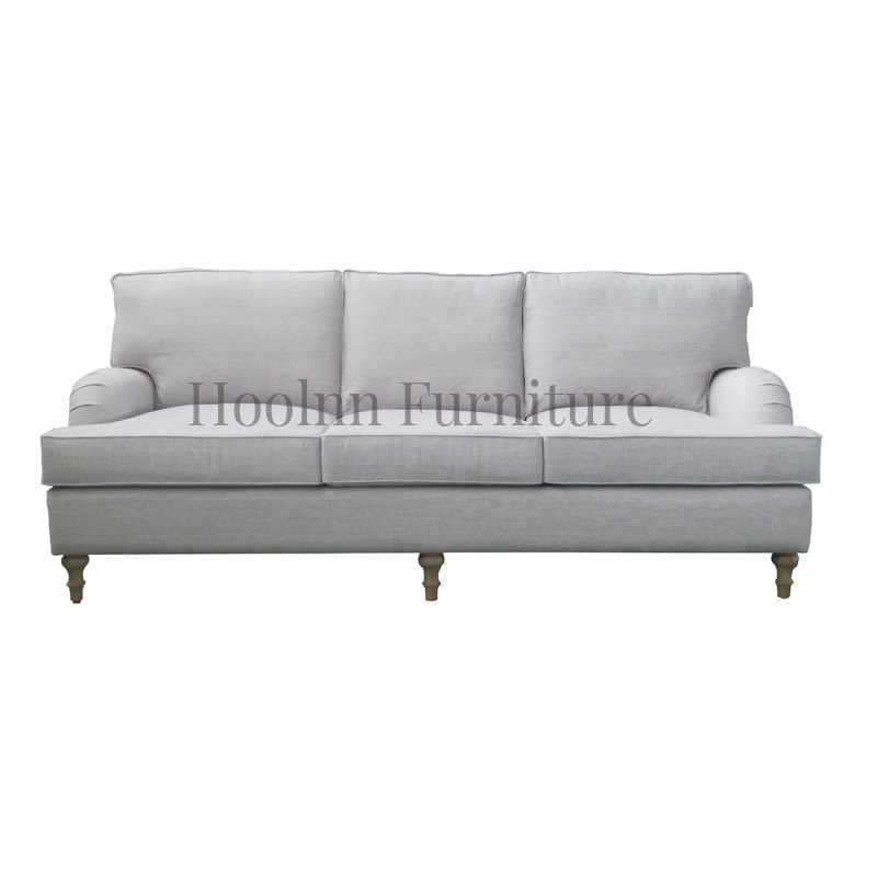 Luxury Charcoal Linen Antique Chesterfield style Sofa for Living Room S1026
