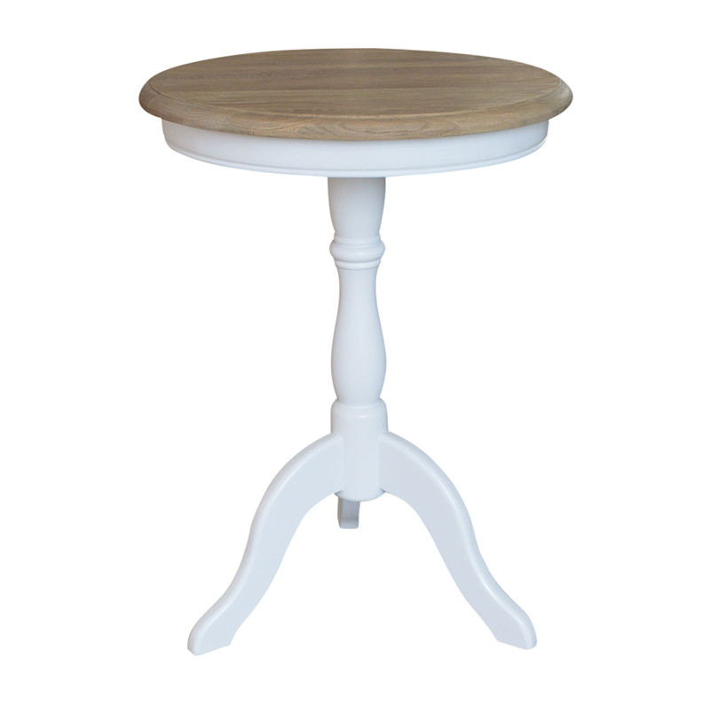French-style Round Wooden Side Table HL338