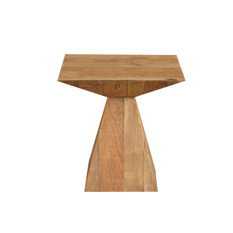Oak wood Side Table special shape HL351