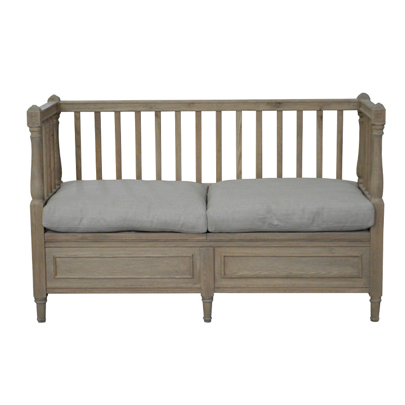 European Style French Antique Wooden Divan Sofa Bench HL101