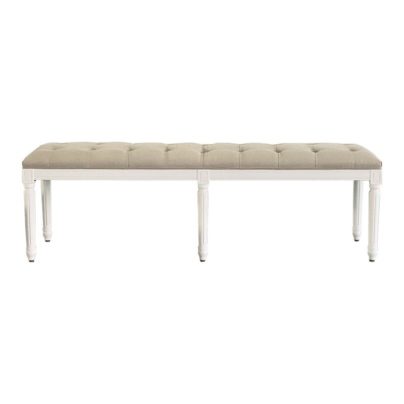 French-style Antique Wooden Upholstered Bench HL297