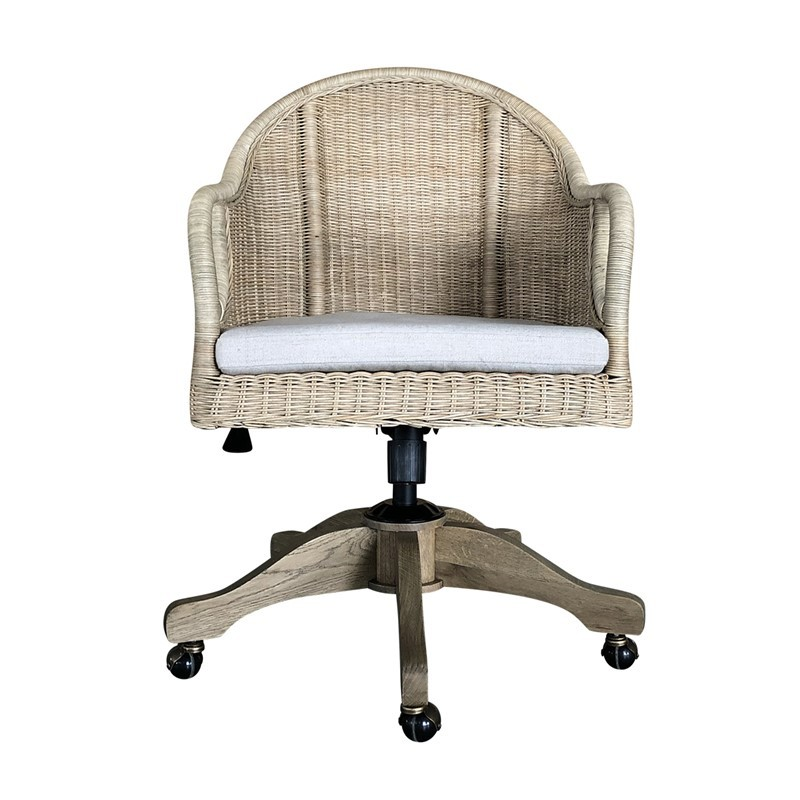 Wingate Rattan Swivel  Furniture Home Office Chair