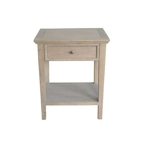 French Costal Style Oak Wood Side Table