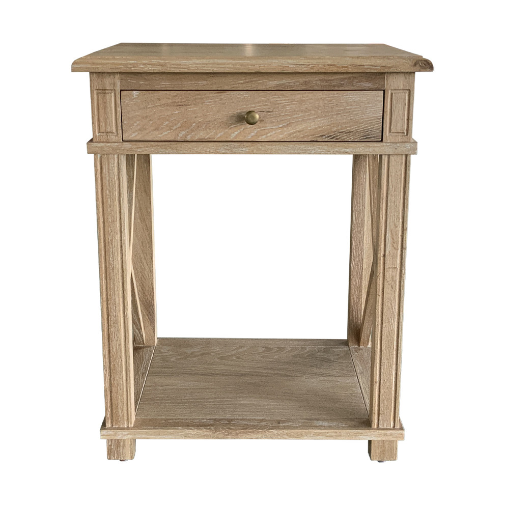French Provincial Style Nightstand Bedside Table