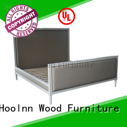 HOOLNN wooden king size bed supplier for trade sale