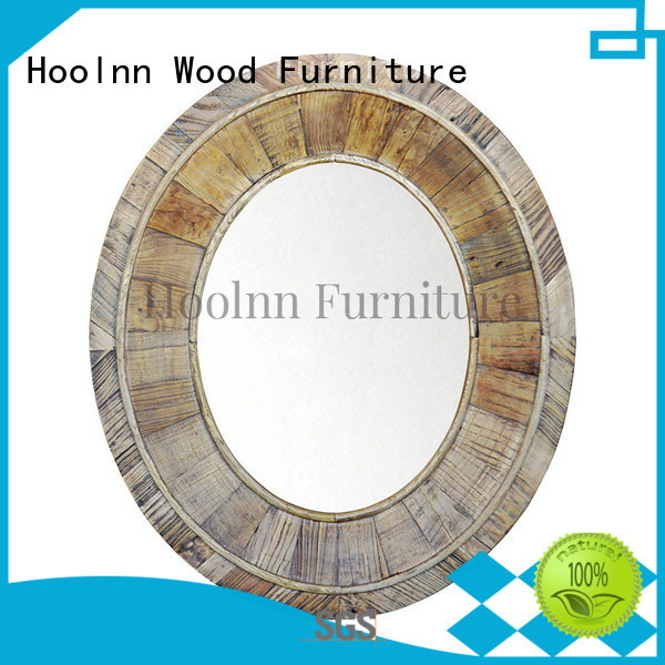 HOOLNN oem oak mirror factory directly for bathroom