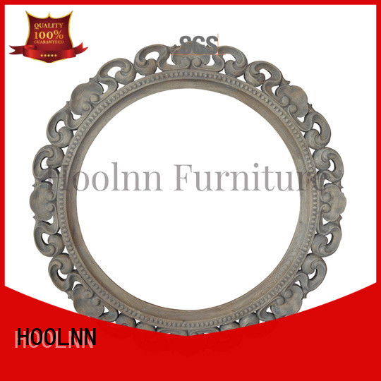 HOOLNN nice shape large wooden mirror with cheap price for bathroom