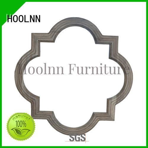 HOOLNN wood bathroom mirror factory directly for wall hanging