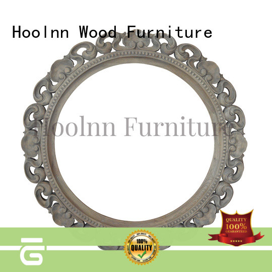 beautiful round wood mirror with cheap price for home decoration