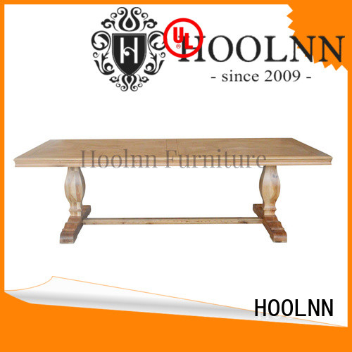 HOOLNN customize round dining table factory in China for wooden furniture industry