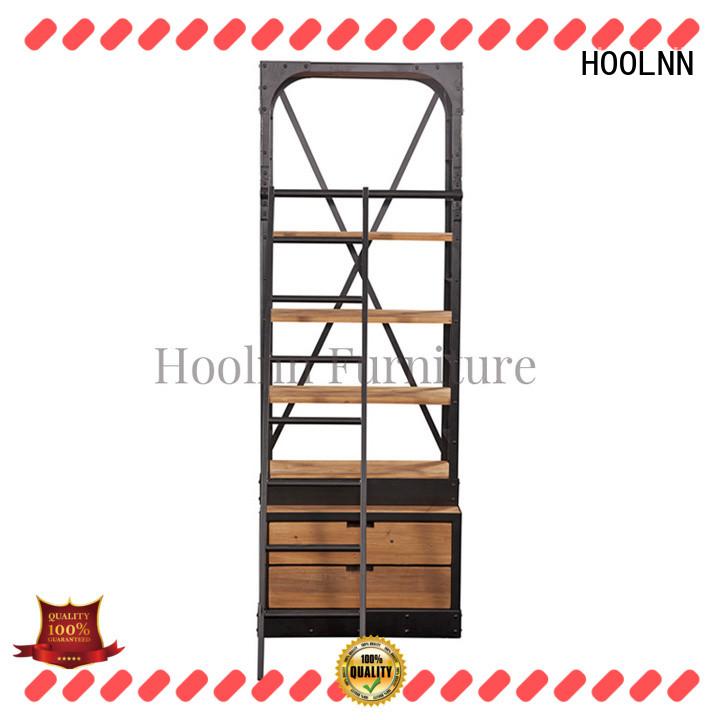 HOOLNN industrial wood bookshelf bulk sale for commercial