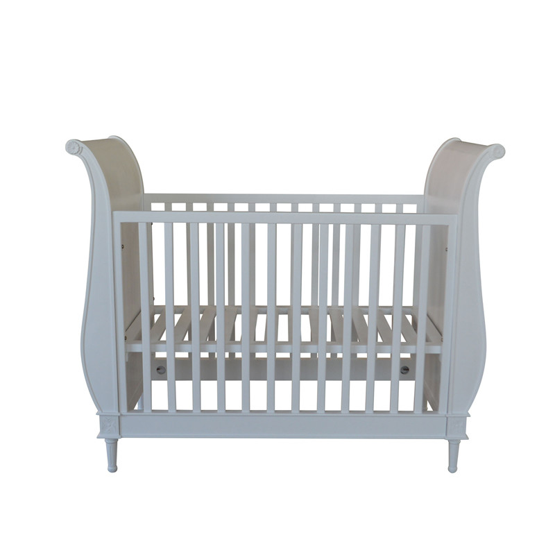 European Provincial Style Wooden Cot Baby Bed BF09