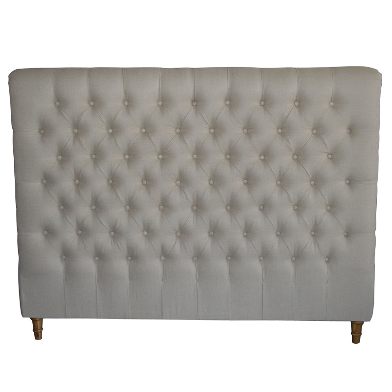 French-style Antique Wooden Upholstered Luxurious Headboard HL007D