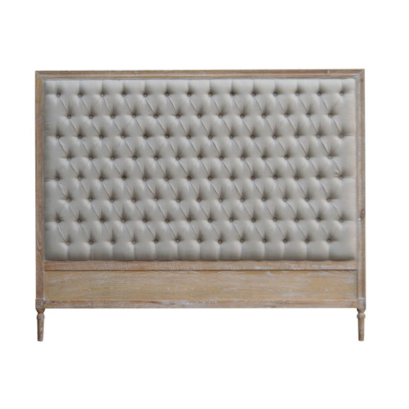 Antique French-style Wooden Queen European Headboard HL008K