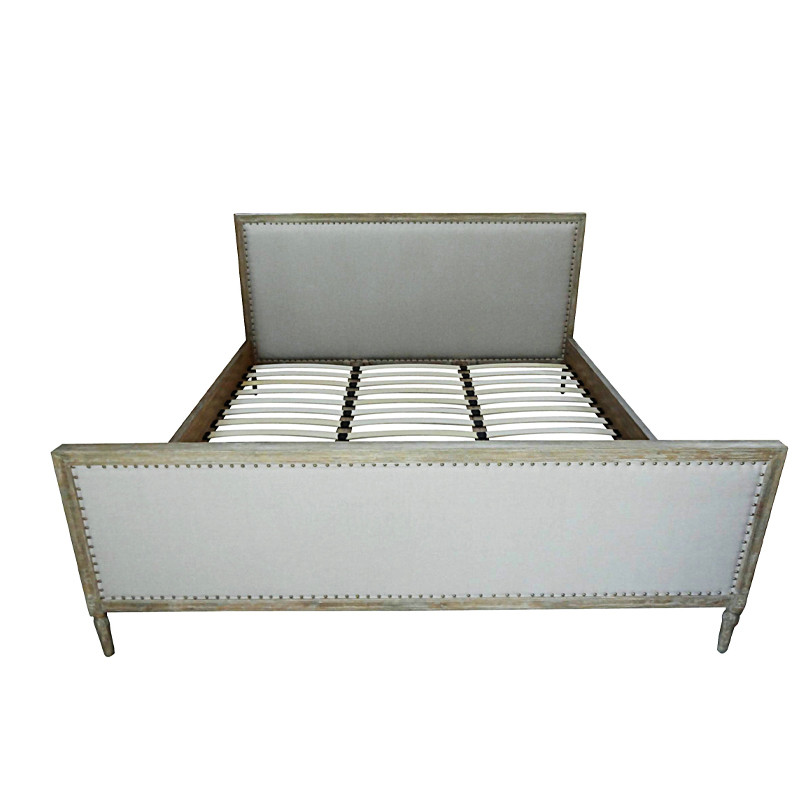 Antique French style Wooden Bed HL025K