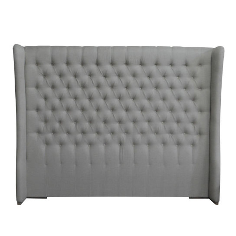 Natural Linen And weathered Oak Headboard King Size