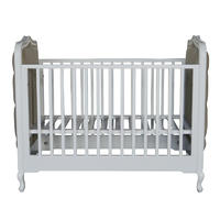 French Style Wooden Baby Cot Furniture HL049
