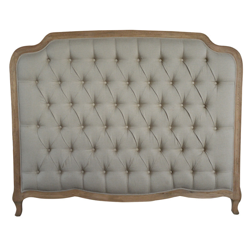 French-style Antique Hotel Room Furniture Wooden Luxurious Headboards King Size 1 Bed HL159HBQ