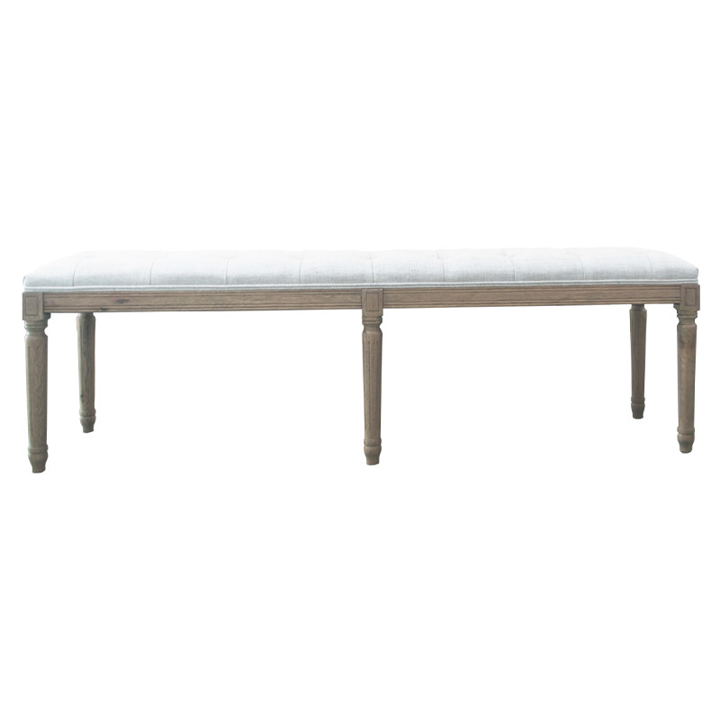 French-style Antique Wooden Upholstered Bench HL297-160
