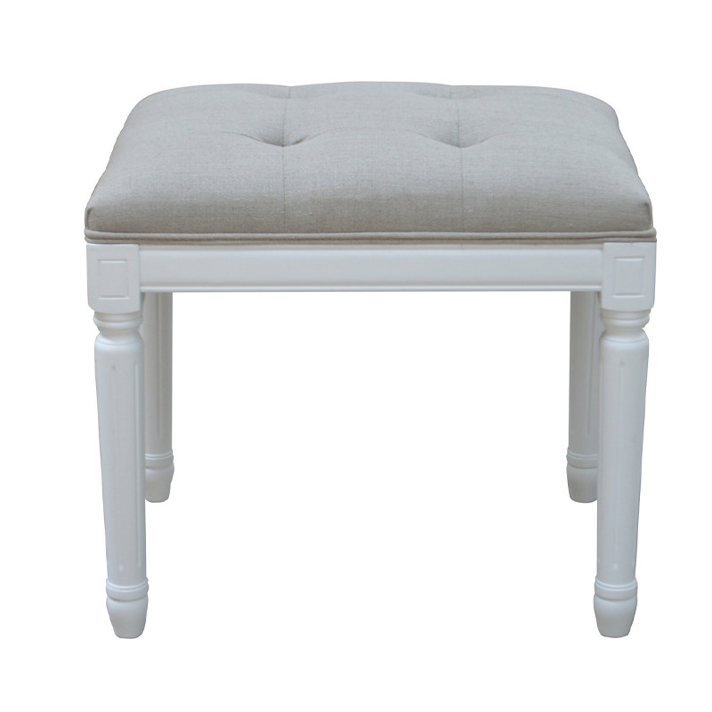 French-style Antique Wooden Upholstered Bench HL297S