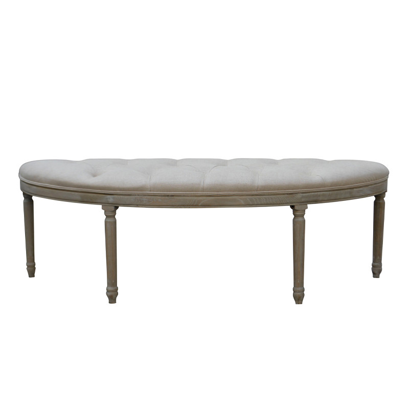 French Antique Oak Bench S1072