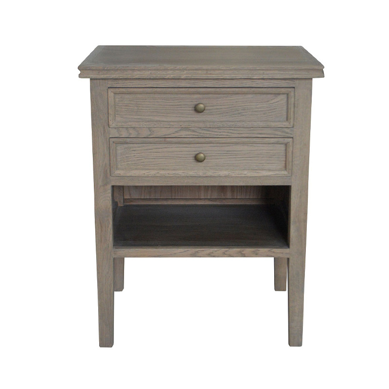 Antique French-style Wooden Nightstand HL038