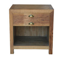 French Style Restoring Ancient Bedside Table with 2 Drawers