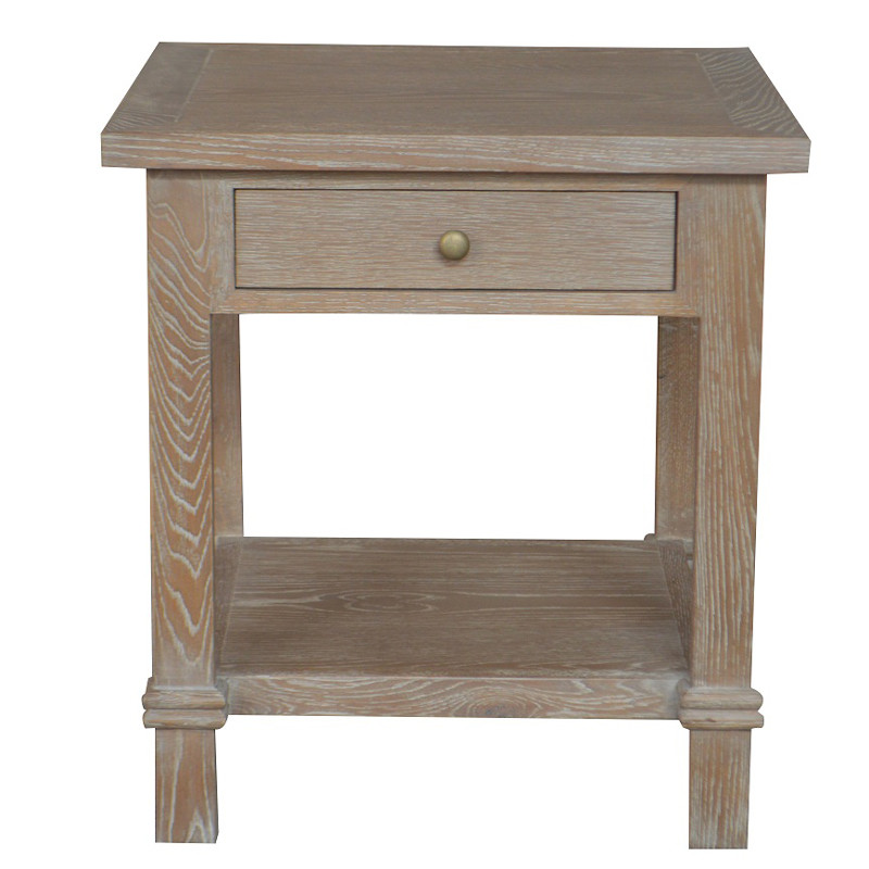 French Style High Quality Oak Bedside Table