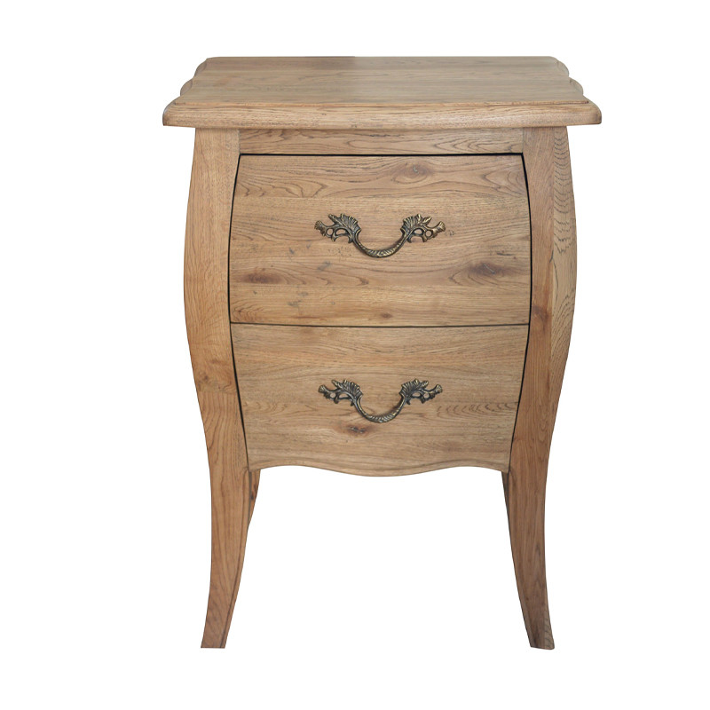 French style Oak Bedside Table-small