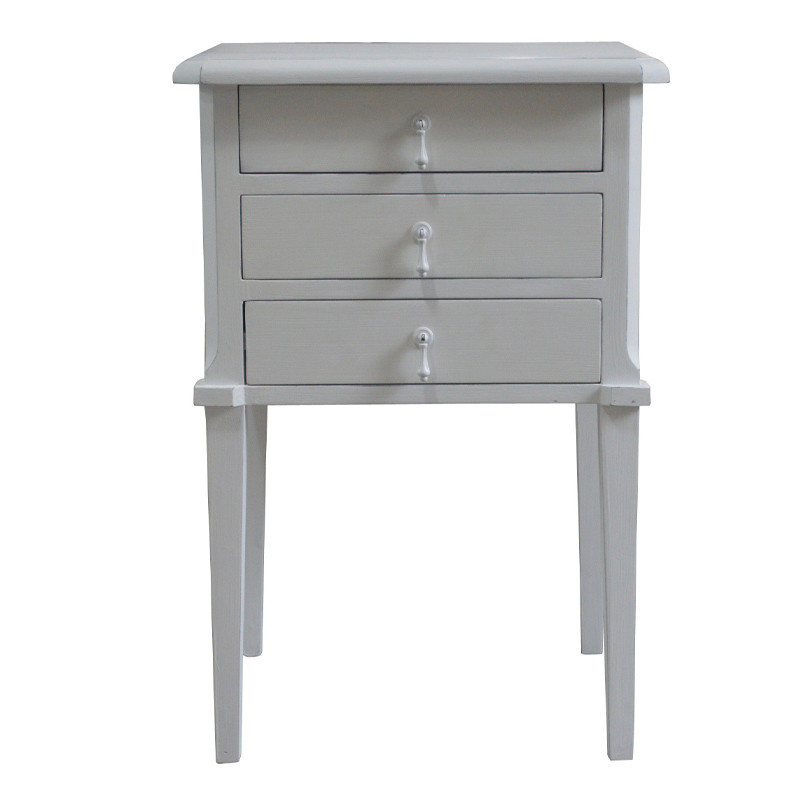 French style Bedside table with 3 Drawers