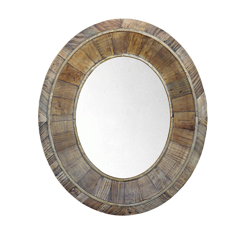 French Style Antique Oak Wood Frame Decorative Mirror HL110