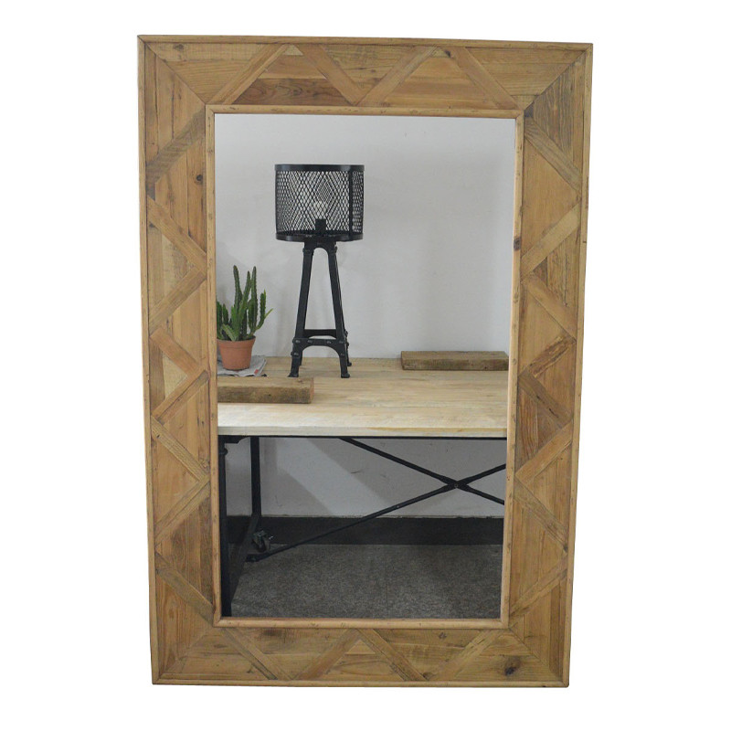 French Style Furniture salvaged wooden mirror HL050