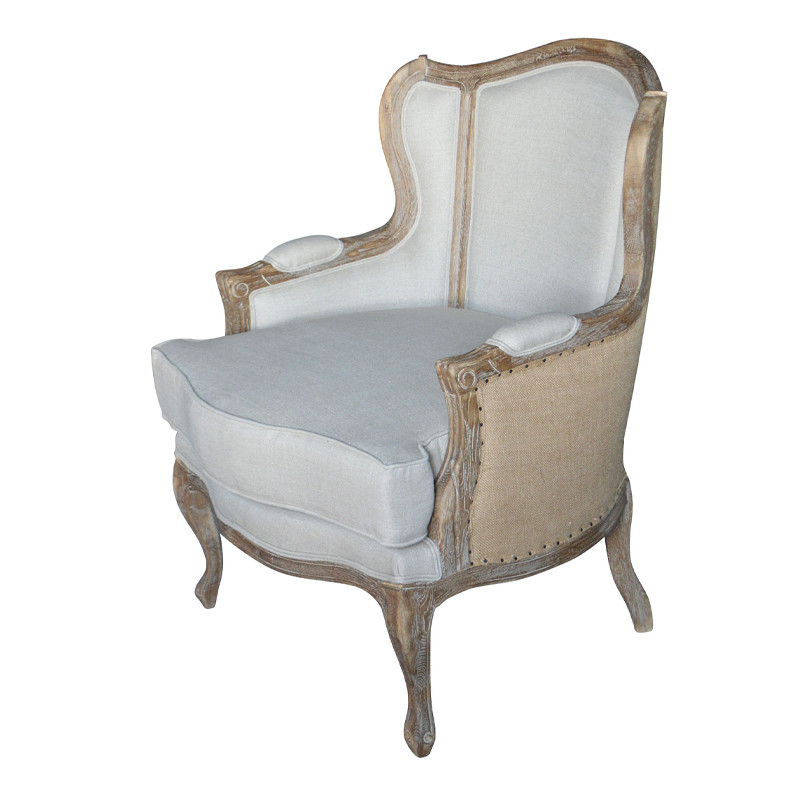 French Style custom wood Armchair furniture S1074