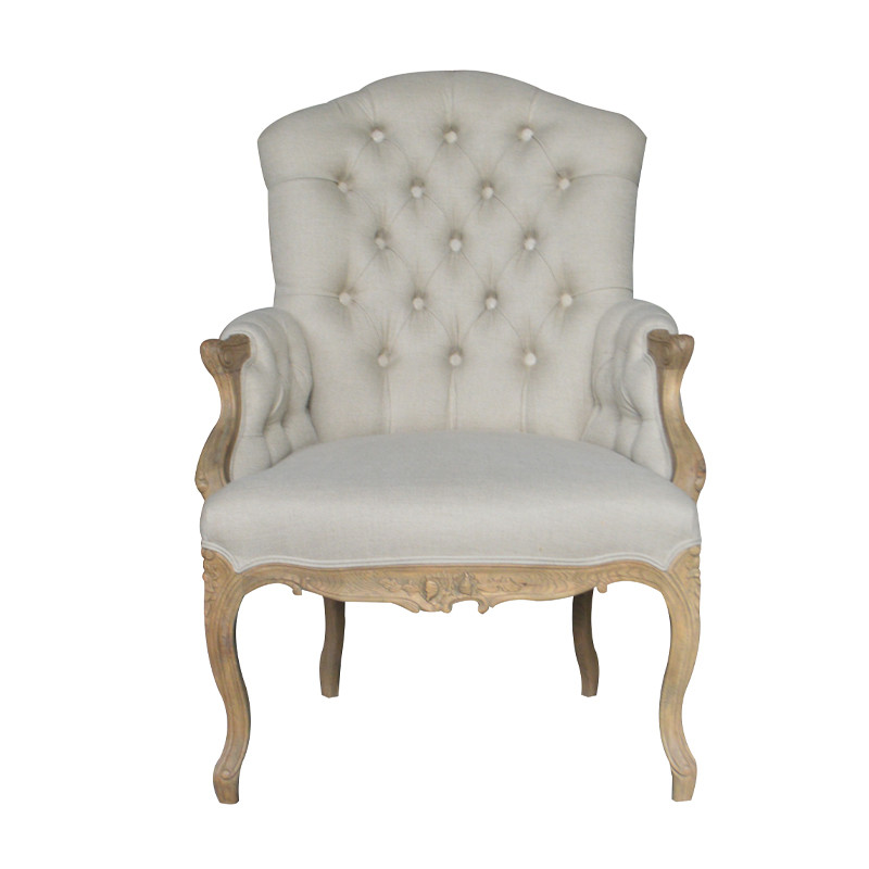 French style oak armchair with various finish color S1170