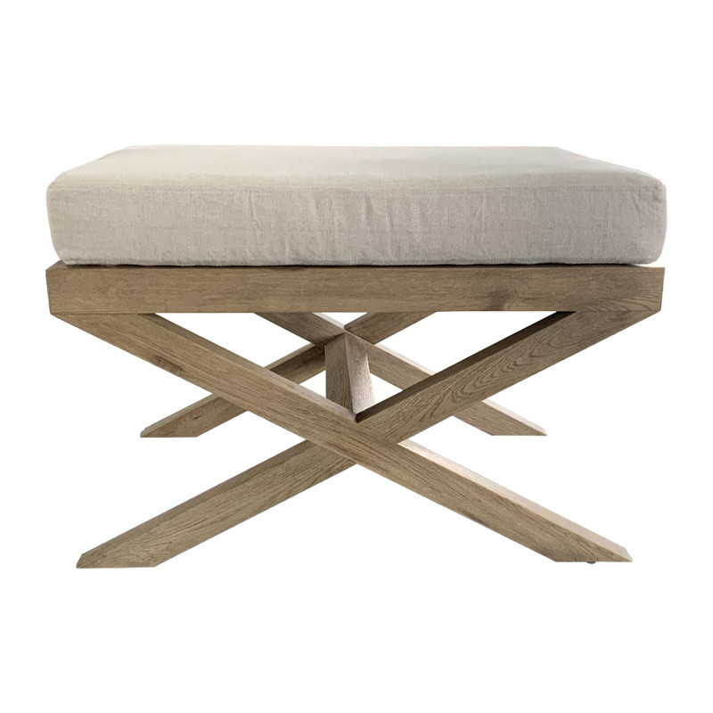 Upholstered Cross Leg Ottoman HL041