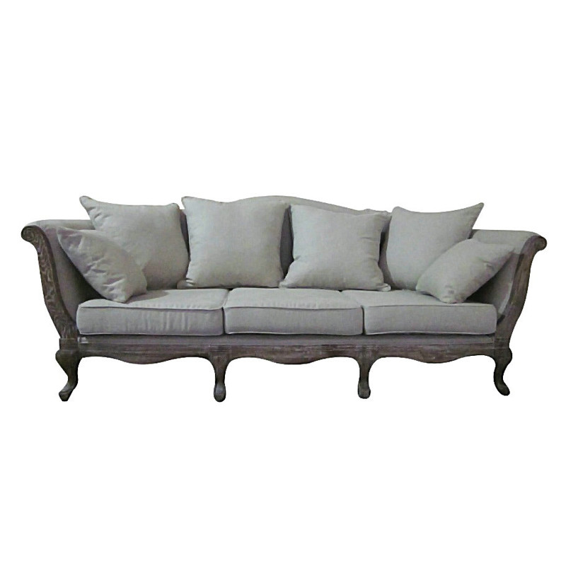 french country furniture custom made wood Sofa HL200-2