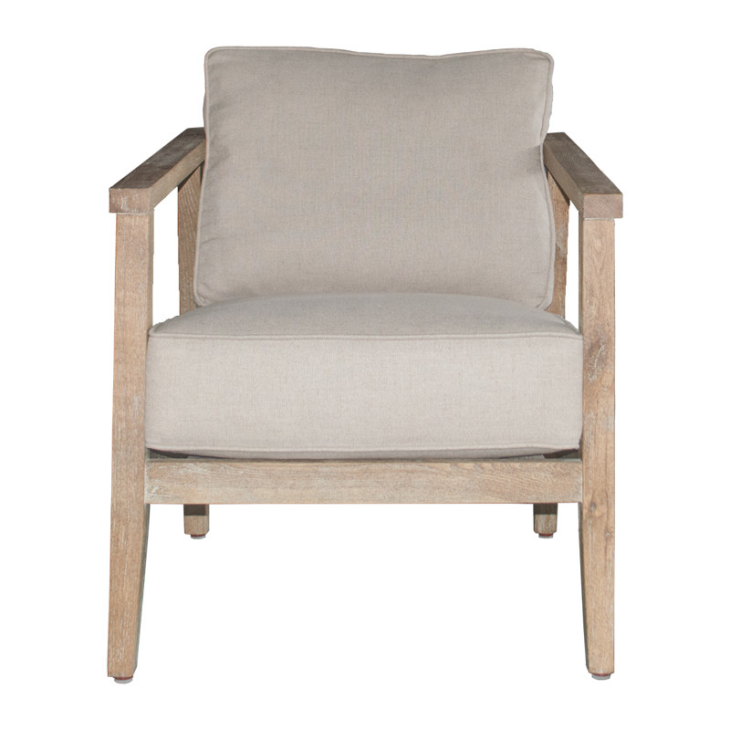 French Style Oak Wood Armchair S1005