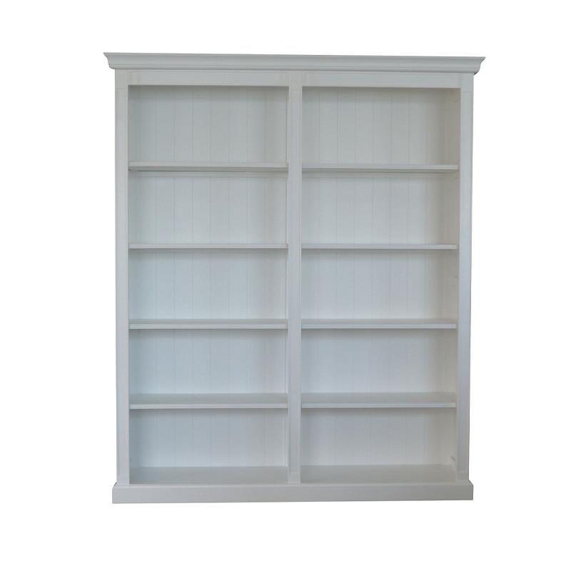 French-style Pure White Oak Bookcase W5908