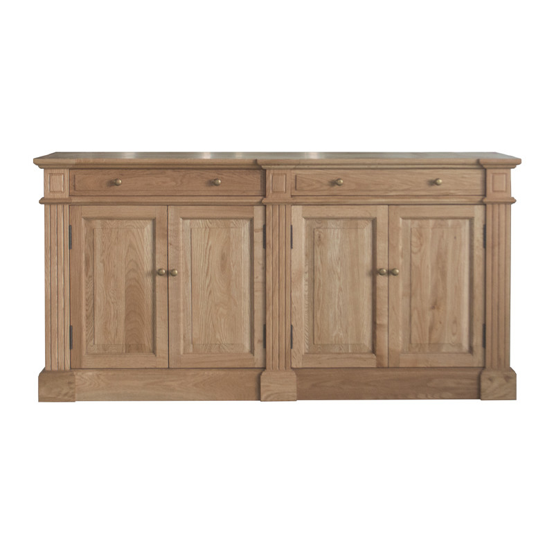 HL898 vintage antique luxury oak wood dining sideboard