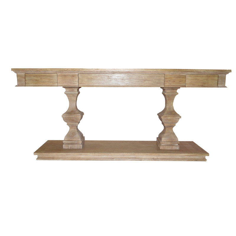 White Washed Oak Console Table