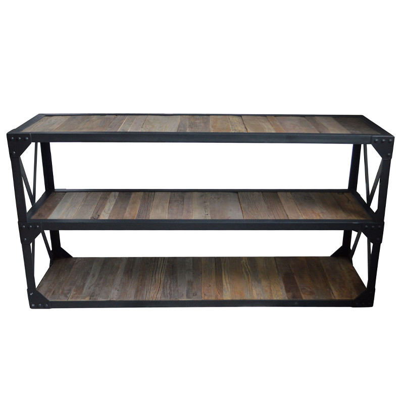 French Industrial Console Table HL407