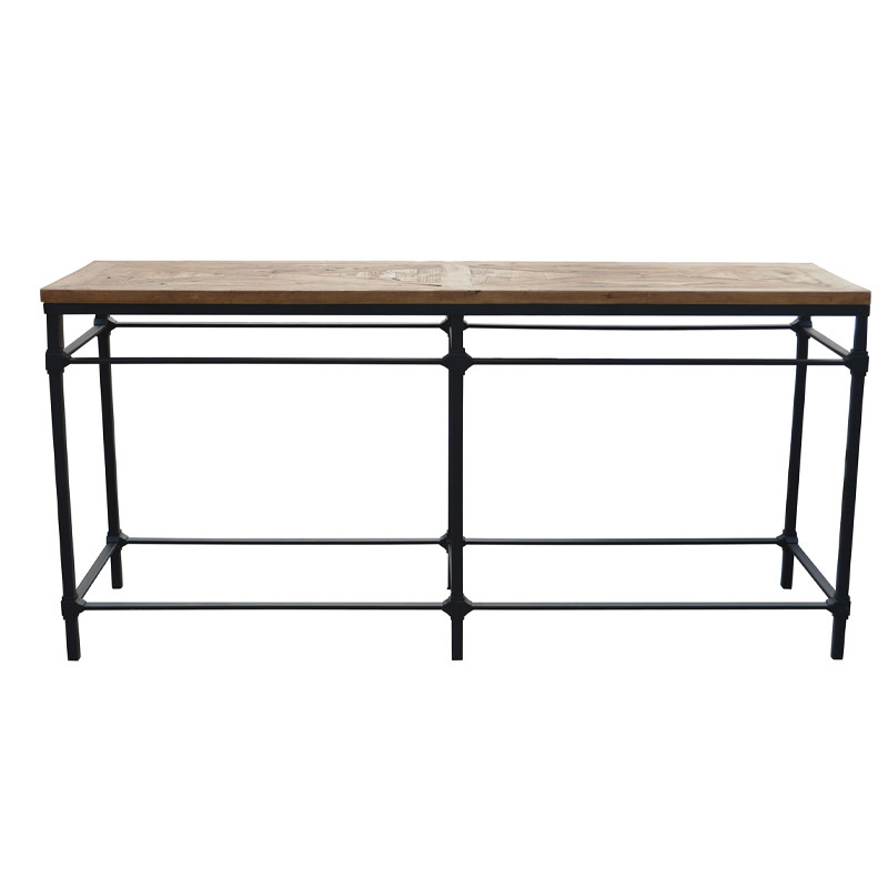 HL410 French Industrial 85cm Height Stand Up Foot Rest Console Table