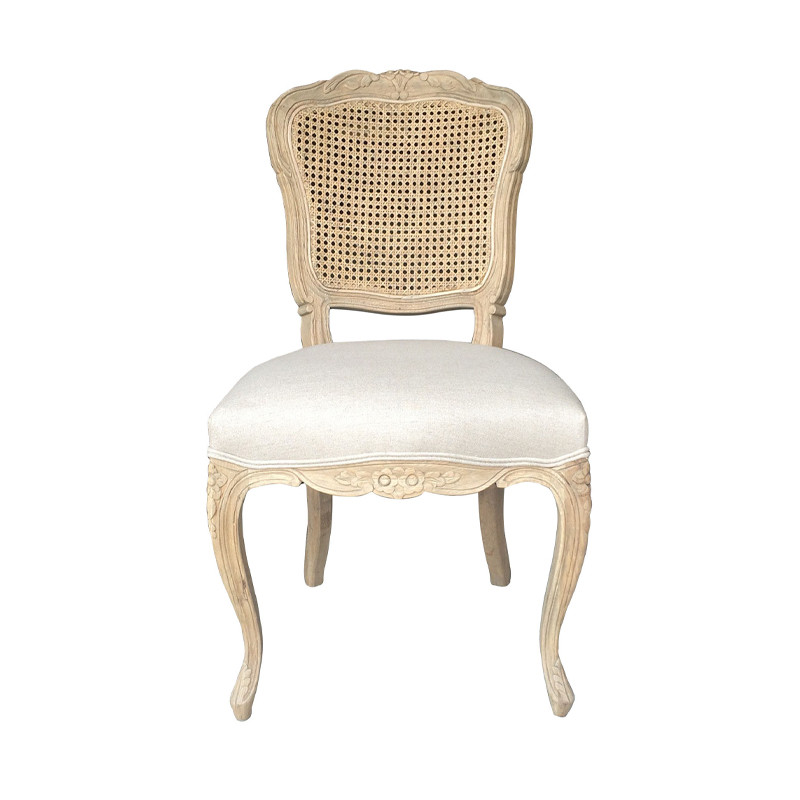 French style dining chair with hand carved cane back P2149