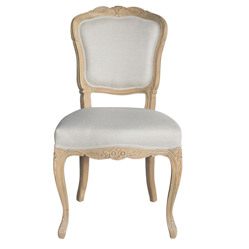 French stylish dining chair with hand carved cane back P2149-1