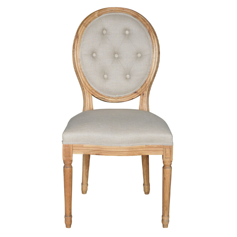 French Stylish Round-back Upholstered Dining Chair P2196-3