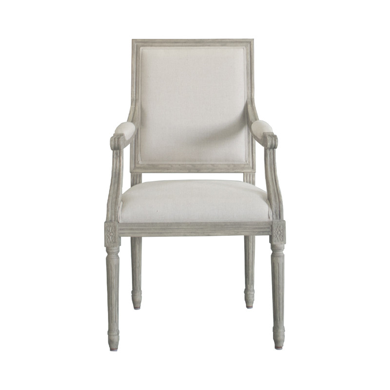 P2199-2 Vintage French Square Upholstered Dinning Chair